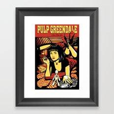 Pulp Greendale Framed Art Print