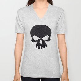 Dark Halloween Pattern Unisex V-Neck