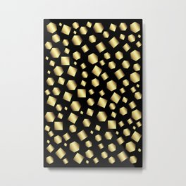 Gold Metallic Clusters Metal Print