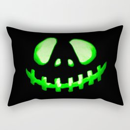 HALLOWEEN. Jack O Lantern : Green Rectangular Pillow