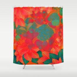 """Intense Pastel Hydrangeas-Passion"" Shower Curtain"