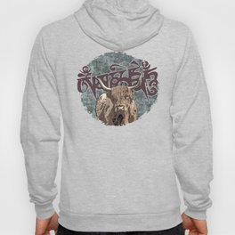 Tibetan Yak with Mani Mantra(six-syllabled Sanskrit mantra: OM MANI PADME HUM ) Hoody