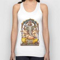 ganesha Tank Tops featuring Ganesha by Pirates of Brooklyn