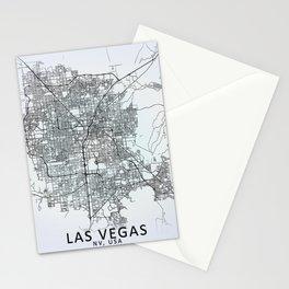 Las Vegas NV USA White City Map Stationery Cards