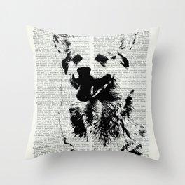 Corgi Print Throw Pillow