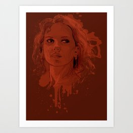 Red in my Ledger Art Print