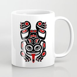 Red and Black Haida Spirit Tree Frog Coffee Mug