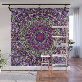 Vivid Lace Ornament Mandala Wall Mural