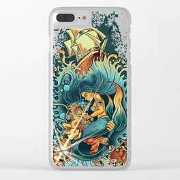 Siren of the Sea Clear iPhone Case
