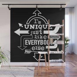 Unique Me - white die cut Wall Mural