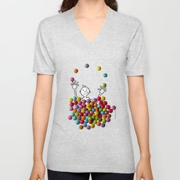 DIDI and chocolate candies Unisex V-Neck