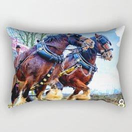 Dray Horses Rectangular Pillow