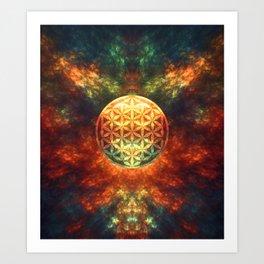 Centered Reality (Flower Of Life)  Art Print