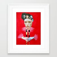 baroque Framed Art Prints featuring Baroque by Mimi Rico