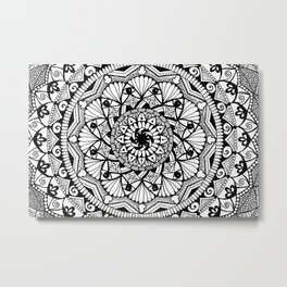 Black & White - I See You - Mandala Metal Print