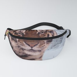 Tiger and Snow Fanny Pack