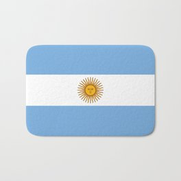 Argentina Flag Bath Mat