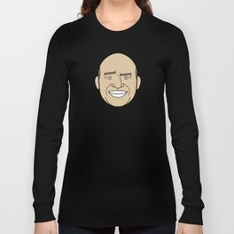 Faces of Breaking Bad: Hank Schrader Long Sleeve T-shirt
