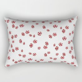 Peppermint Candy in White Rectangular Pillow