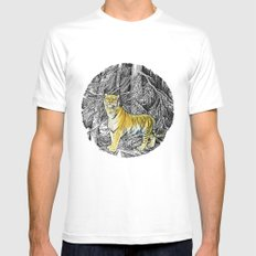 Tiger MEDIUM Mens Fitted Tee White