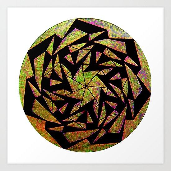 Psychedelic Pinwheel Art Print