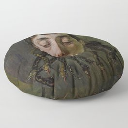 GORGON'S HEAD - WILHELM TRUEBNER Floor Pillow