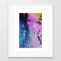 ahs Framed Art Prints featuring AHS Violet by Connor Caldwell