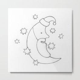 Santa Moon Metal Print