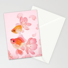 Cherry blossom goldfish Stationery Cards