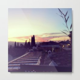 Sunset in Granada, Spain Metal Print