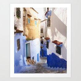 Lost in Blue Art Print