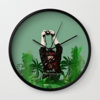 photographer Wall Clocks featuring Photographer by ELCORINTIO