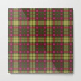 Purple and green Tartan (Scotch) Pattern Metal Print