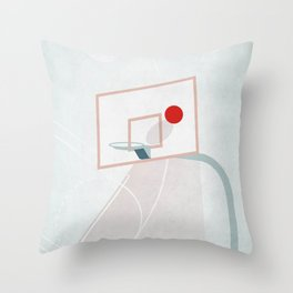 basketball court illustration - ball sport design Throw Pillow