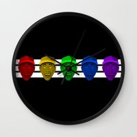 tyler the creator Wall Clocks featuring Tyler the Creator (Divide) by KAZOO
