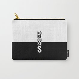 No Excuses... Gym Motivational Quote Carry-All Pouch