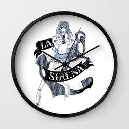 La sirena mermaid mni Wall Clock