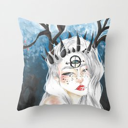 Let me bloom Throw Pillow