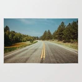 Winding road to the rocks Rug