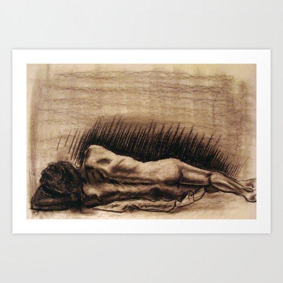 Portrait Of A Back Art Print