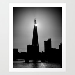 The Shard With The Morning Sun Art Print