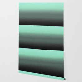 mint to black ombre Wallpaper
