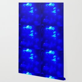 Electric Blue Squishes Wallpaper