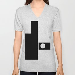 Minimal Black and White Unisex V-Neck