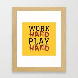 HARD Framed Art Print