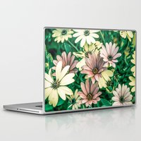 daisies Laptop & iPad Skins featuring Daisies by Loredana