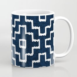 Blue Geometric Pattern Coffee Mug