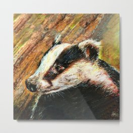 Mr Badger Metal Print