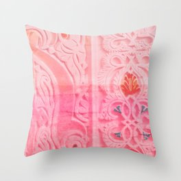 Oriental Carvings And Ornaments - ornament closeup Throw Pillow