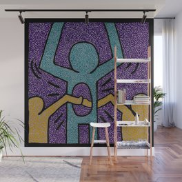 Keith Haring High Five Wall Mural
